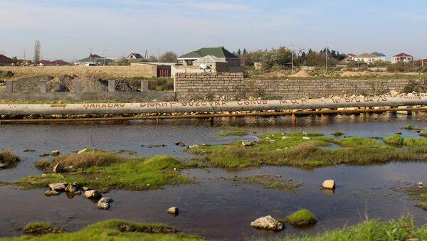 Maştağa qəsəbəsində yerləşən Savalan yaşayış massivində hazırkı vəziyyət - Sputnik Azərbaycan
