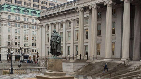 Здание Министерства финансов США в Вашингтоне - Sputnik Азербайджан