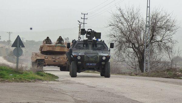 Турецкая военная техника, используемая в операции в Африне, фото из архива - Sputnik Азербайджан