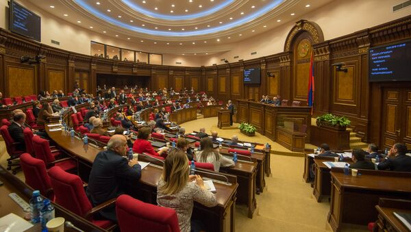 Зал заседаний парламента Армении, фото из архива - Sputnik Азербайджан