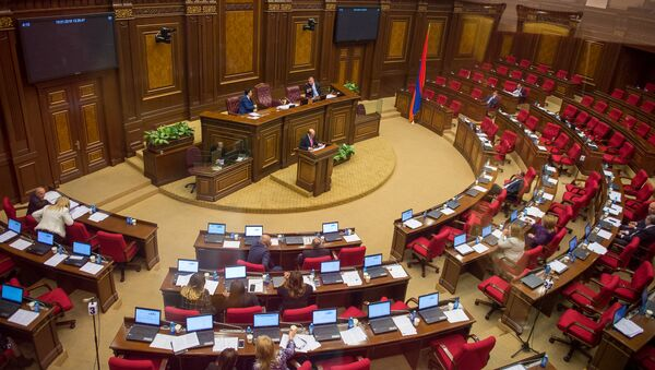 Заседание Национального собрания Армении, фото из архива - Sputnik Azərbaycan