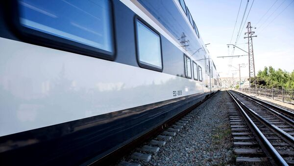 Поезд Азербайджанских железных дорог, фото из архива - Sputnik Азербайджан