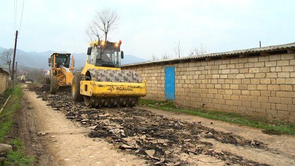 Masallıda 32 min əhalinin yaşadığı kəndlərin yolları yenidən qurulur - Sputnik Azərbaycan