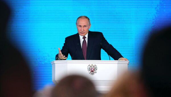Ежегодное послание президента РФ В. Путина Федеральному Собранию - Sputnik Азербайджан