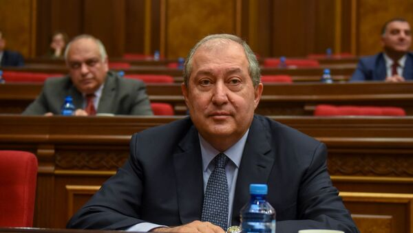 Новоизбранный президент Армении Армен Саркисян - Sputnik Азербайджан