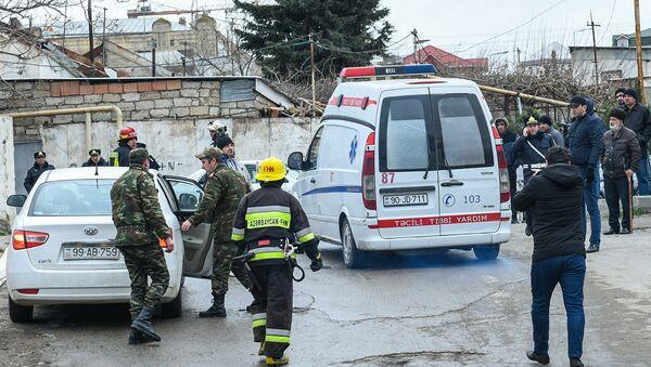 Пожар в Республиканском наркологическом диспансере в Баку - Sputnik Азербайджан