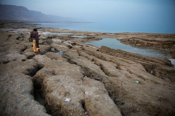 Авраам ходит по берегу Мертвого моря недалеко от Меццока Драго, Израиль, Западный берег - Sputnik Азербайджан
