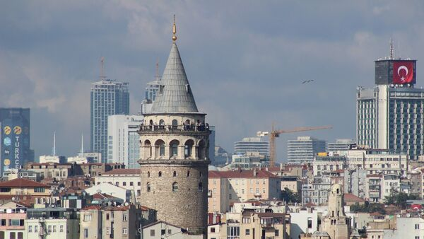 Вид на один из районов Стамбула - Sputnik Azərbaycan
