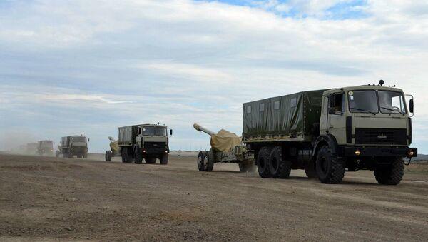 В ходе широкомасштабных учений проводится передислокация войск - Sputnik Азербайджан