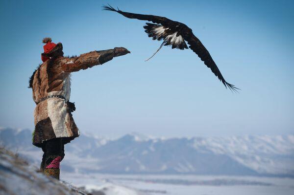 Весенний орлиный фестиваль в Монголии - Sputnik Азербайджан