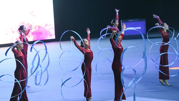Церемония открытия Кубка мира по спортивной гимнастике - Sputnik Азербайджан