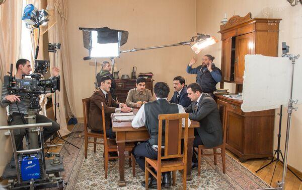 Съемки фильма, посвященного 100-летию Азербайджанской Демократической Республики - Sputnik Азербайджан
