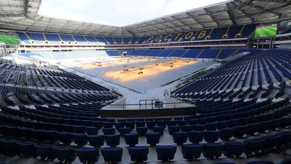 Строящийся футбольный стадион Ростов Арена в Ростове-на-Дону - Sputnik Азербайджан
