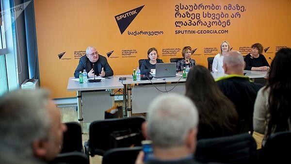 Мастер-класс в рамках образовательного проекта SputnikPro в Мультимедийном пресс-центре Sputnik Грузия - Sputnik Азербайджан
