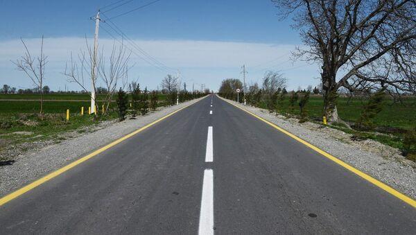 Yeni Daşkənd-Umudalılar avtomobil yolu yenidənqurmadan sonra  - Sputnik Azərbaycan