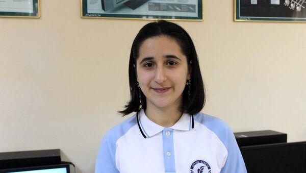 Азербайджанская школьница Рейхан Джамалова - Sputnik Азербайджан