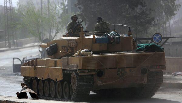 Турецкий танк в Сирии, фото из архива - Sputnik Азербайджан