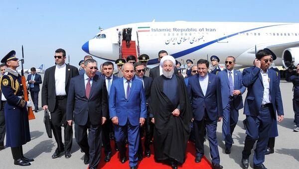 Президент Ирана Хасан Роухани прибыл с официальным визитом в Азербайджан - Sputnik Азербайджан