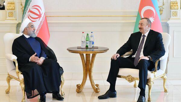 Президенты Азербайджана и Ирана Ильхам Алиев и Хасан Роухани, архивное фото - Sputnik Азербайджан