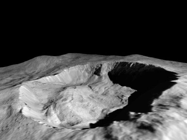 Северный склон кратера Джулинг на Церере - Sputnik Азербайджан