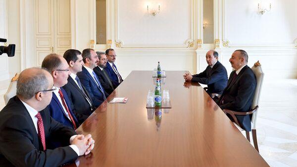 Президент Ильхам Алиев принял делегацию во главе с министром юстиции Турции - Sputnik Азербайджан