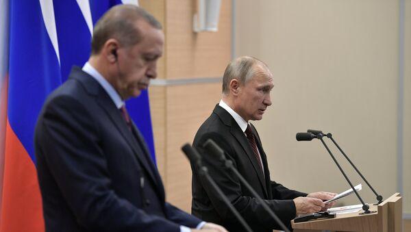 Ərdoğan və Putin - Sputnik Azərbaycan