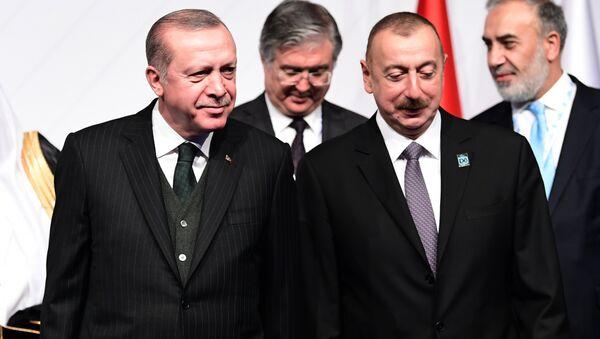 Azərbaycan prezidenti İlham Əliyev və Türkiyə prezidenti Rəcəb Tayyib Ərdoğan - Sputnik Azərbaycan