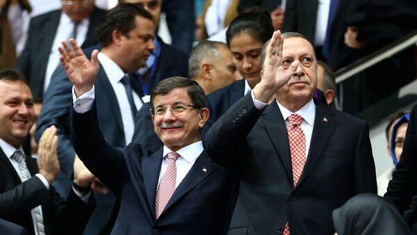 Ərdoğan və Davudoğlu - Sputnik Azərbaycan