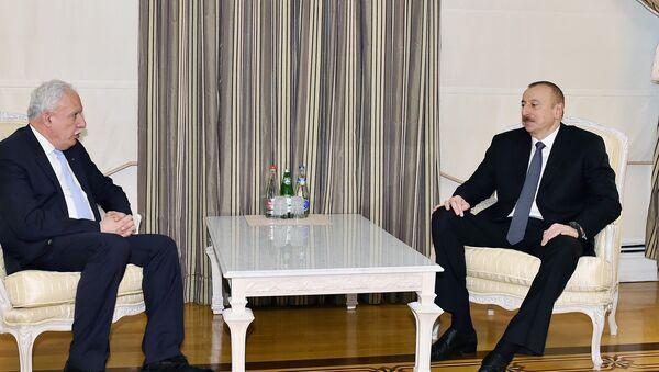 Президент Ильхам Алиев принял министра иностранных дел Палестины - Sputnik Azərbaycan