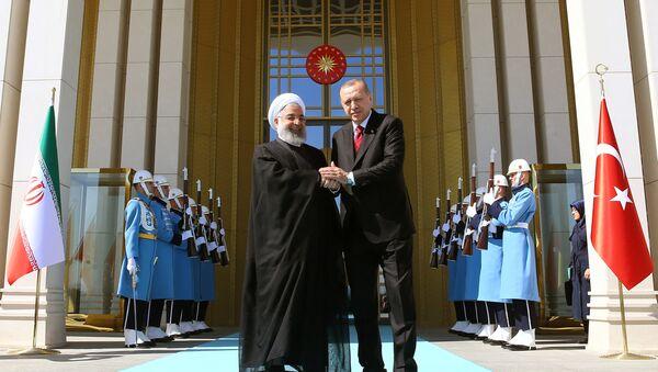 Rəcəb Tayyip Ərdoğan və Həsən Ruhani - Sputnik Azərbaycan