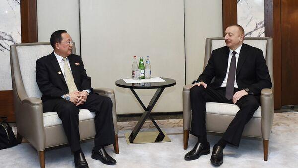 Президент Ильхам Алиев встретился с министром иностранных дел Корейской Народно-Демократической Республики - Sputnik Азербайджан