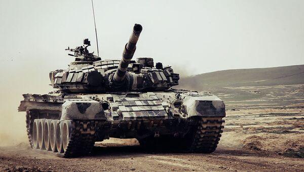 Танковые соревнования ВС Азербайджана, фото из архива - Sputnik Азербайджан