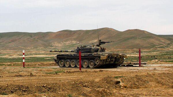 Соревнование на звание Лучший танковый экипаж - Sputnik Азербайджан