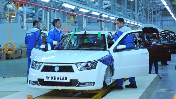 Производство легковых автомобилей Khazar - Sputnik Азербайджан