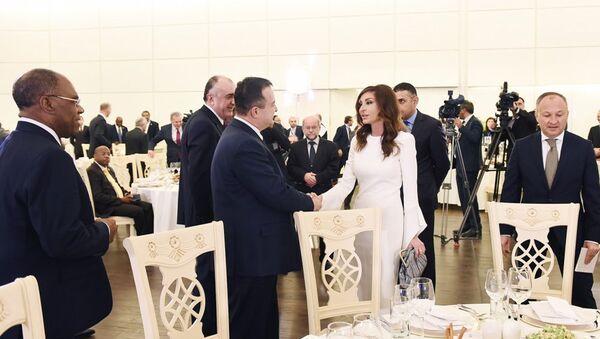 Вице-президент Азербайджана Мехрибан Алиева принимает участие в приеме в честь министров иностранных дел стран Движения неприсоединения - Sputnik Азербайджан