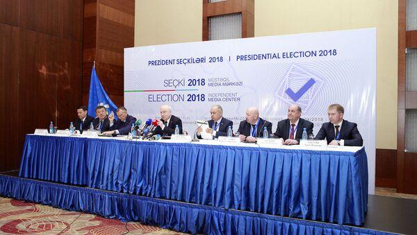 Итоговая пресс-конференция наблюдательной миссии стран СНГ - Sputnik Азербайджан