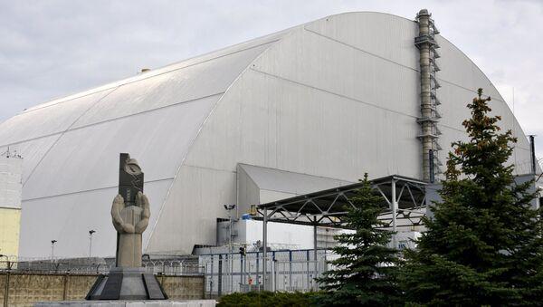Арка над объектом Укрытие (четвертый энергоблок) Чернобыльской атомной электростанции - Sputnik Азербайджан