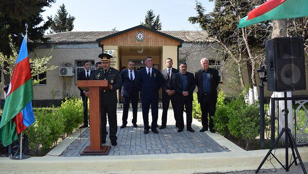 Şabran rayonunda gənclərin müddətli həqiqi hərbi xidmətə yola salınma mərasimi - Sputnik Azərbaycan