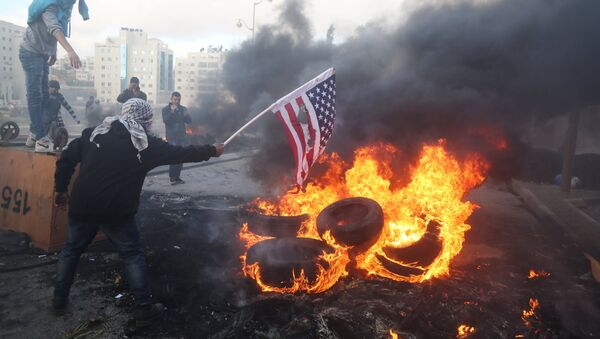 Акция протеста против США, фото из архива - Sputnik Азербайджан