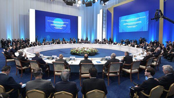 Заседание совета глав государств - членов Шанхайской организации сотрудничества (ШОС) в расширенном составе - Sputnik Азербайджан