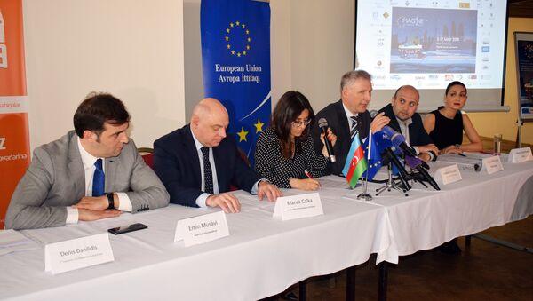 Пресс-конференция, посвященная открытию фестиваля толерантности IMAGINE - Sputnik Азербайджан