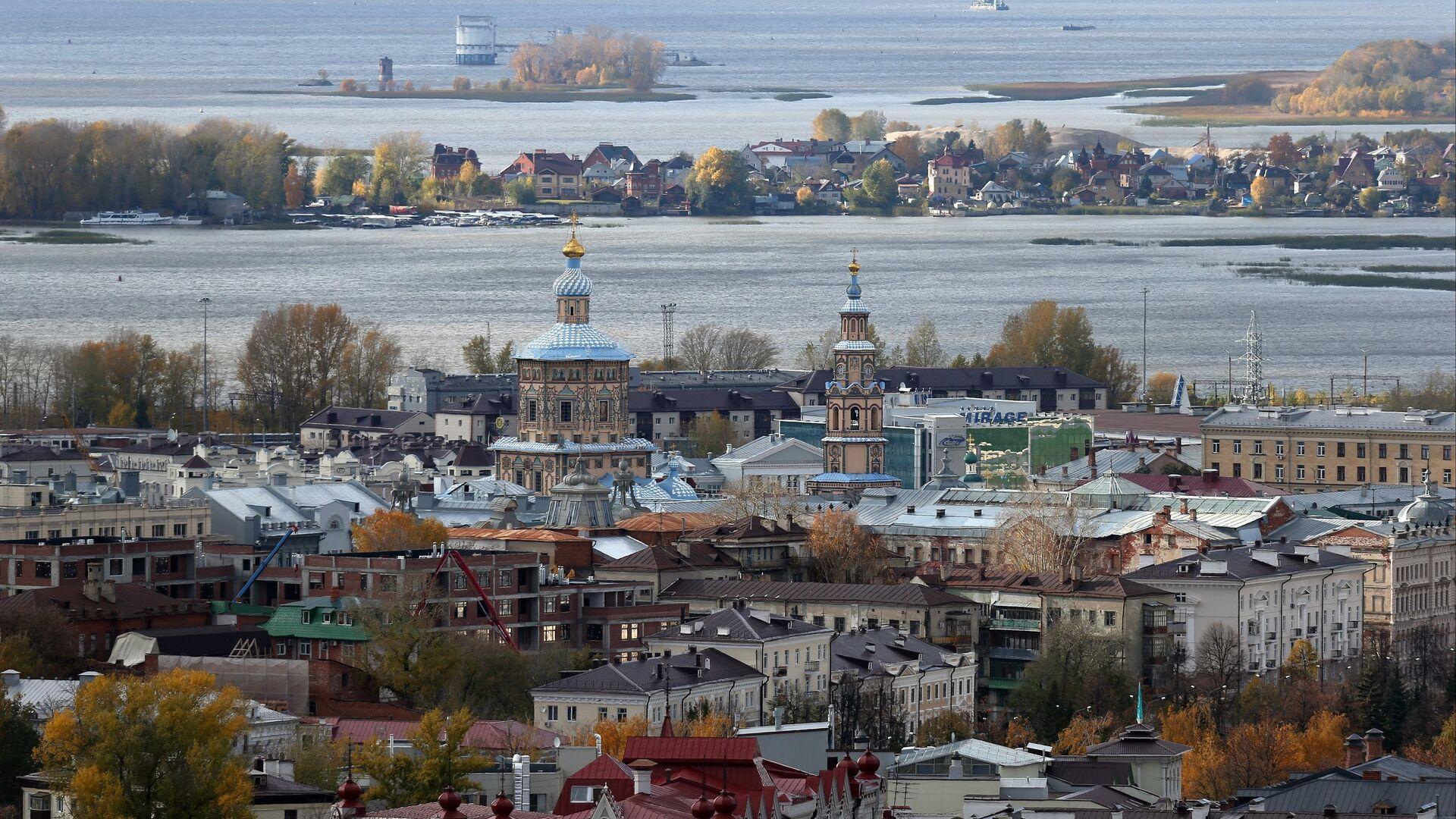 Kazan şəhərinə mənzərə, arxiv şəkli - Sputnik Azərbaycan, 1920, 10.10.2021