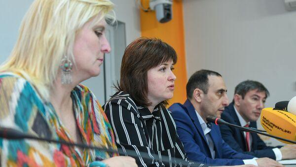 Пресс-конференция недавно созданной Рабочей группы по изучению и популяризации архитектурного, культурного, духовного, этнографического и исторического наследия Азербайджана - Sputnik Азербайджан