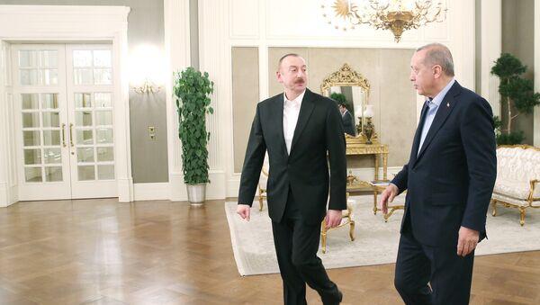 Президенты Турции и Азербайджана Реджеп Тайип Эрдоган и Ильхам Алиев - Sputnik Азербайджан