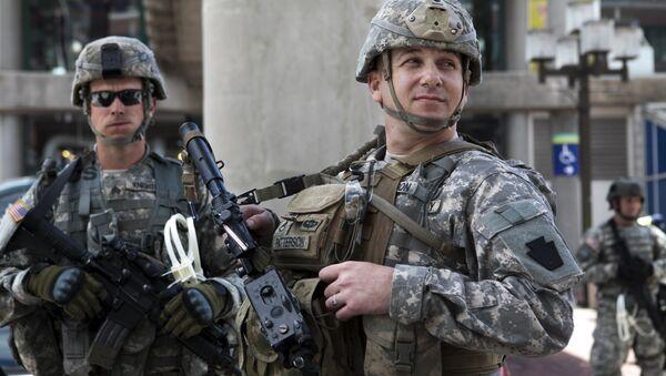 Солдаты Национальной гвардии США - Sputnik Азербайджан