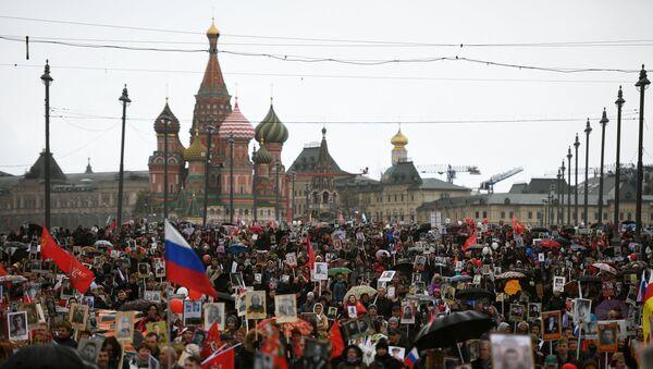 Акция Бессмертный полк в Москве, фото из архива - Sputnik Азербайджан