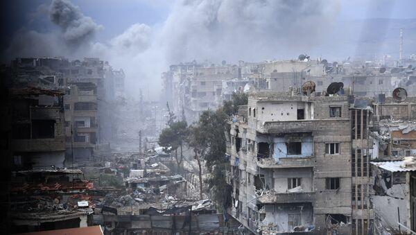 Ситуация в районе лагеря беженцев в Сирии, архивное фото - Sputnik Азербайджан