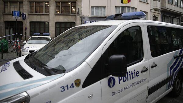 Автомобиль полиции в Бельгии, фото из архива - Sputnik Азербайджан