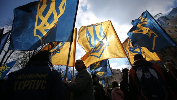 Акция протеста  в Киеве против олигархов - Sputnik Азербайджан