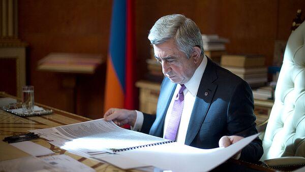 Серж Саргсян, архивное фото - Sputnik Азербайджан